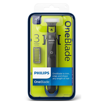 Oneblade Rechargeable Facial Trimmer with 3 x Styling Combs